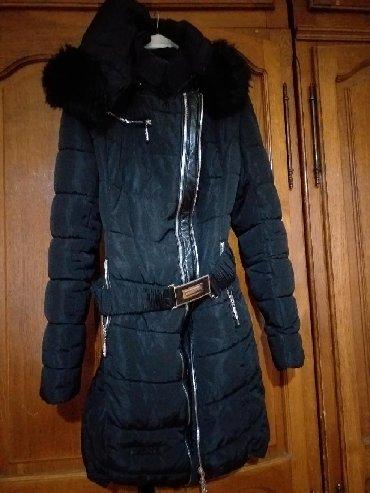 Znad-kolena - Srbija: L vell crna toola zimska jaknica do kolena