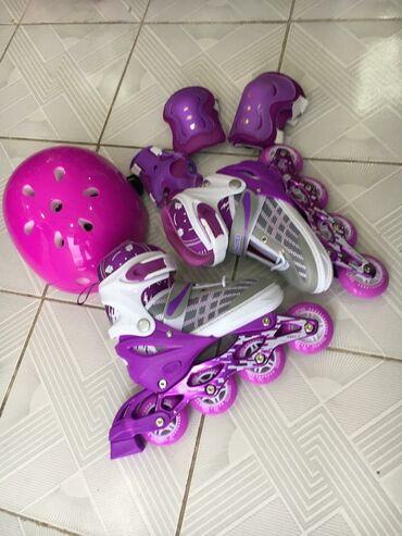 sport kofta в Кыргызстан: Детские ролики с гелевыми колесами полный комплект размеры все есть