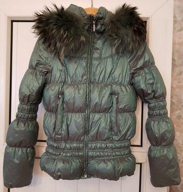 женский пуховик с капюшоном в Кыргызстан: Куртка зимняя, пуховик, воротник натуральный мех съёмный, капюшон