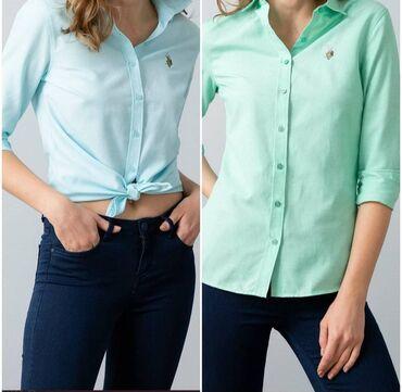 Шикарные женские рубашки от USPolo Assn по доступным ценам,ткань хб,не