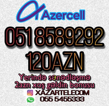 Azercell nomrelerin satiwi