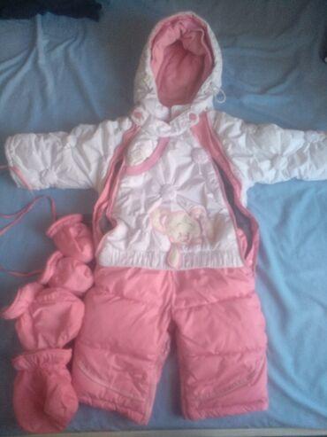 Верхняя одежда в Кыргызстан: Продаю детские комбинезоны.  Белый комбинезон трансформер демисезонный