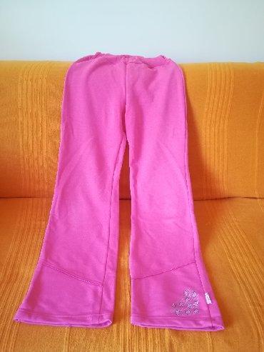 Dečije Farmerke i Pantalone   Vranje: Kvalitetne pamučne vel 14 kao nove roze trenerke, donji deo, nekoliko