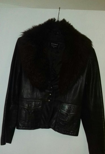 Sako-osomota-braon-boje - Srbija: Kozna jakna braon boje