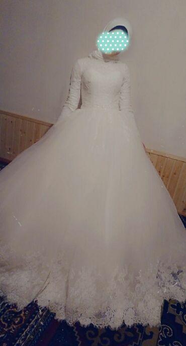 свадебные платья хиджаб в Кыргызстан: Комплект кольцо,фата,туфли,бар.44,46тушотсвет айвари