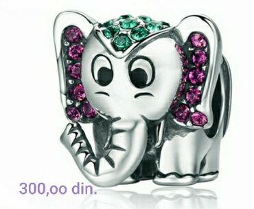 Pandora privezak - Srbija: Privezak za Pandoru,silver sterling  Slonče za sreću