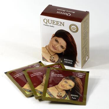 Коричневая Краска для волос «Квин» на основе натуральной хны (без амми