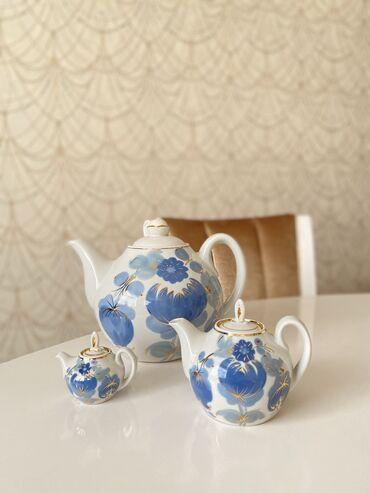 Редкий набор фарфоровых чайниковнабор чайников «семейный» или