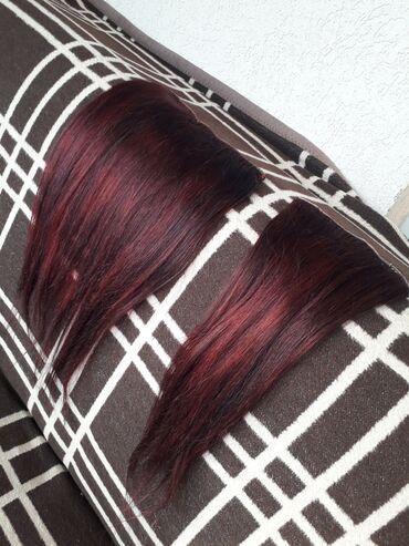 Bordo torbica - Srbija: 100% prirodna kosa. Duzina oko 50 cm. 2 dela 4x prosivena. Boja je