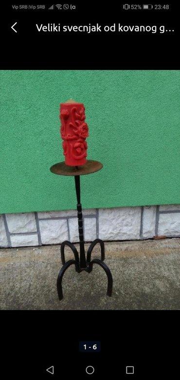 Rasveta | Sombor: Svečnjak veliki od kovanog gvožđa