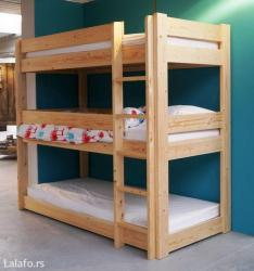 Krevet za troje,izrada po vasim merama,materijal bukva - Ruma