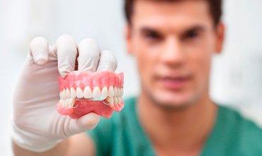 Зубные протезы, бюгельный протез, микропротез, мягкий протез (нейлон). в Бишкек