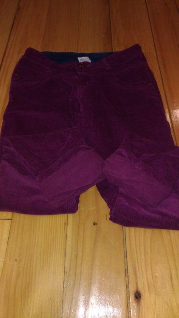 Termo-pantalone - Srbija: Somotske pantalone, postavljene, termo, kao nove, nenosene, vel. 14