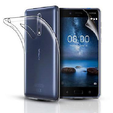 чехол в Азербайджан: Nokia 5 ucun cexol gabi case + plyonkaЧехол для Nokia 5 прозрачный +