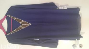 Nova haljina sa etiketom. prelepe plave boje sa cirkonima da dekolteu. - Jagodina