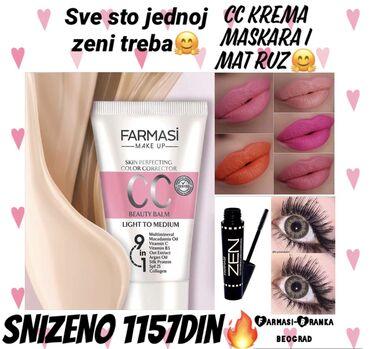 Kozmetika - Srbija: Divan set na snizenju ovog mesecaSet sadrzi:Cc kremu nijansa po