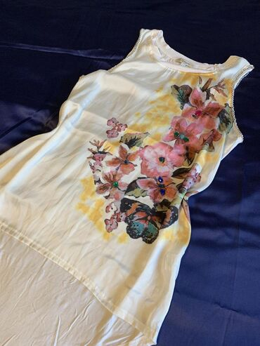 Nova svilena majica-tunika,velicina L