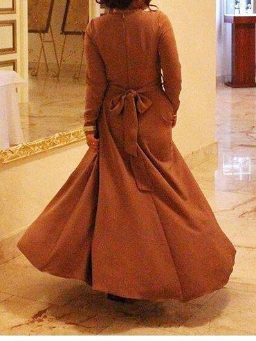 Вечернее платье. цвет - бежевый, размер - 42-46 в Бишкек