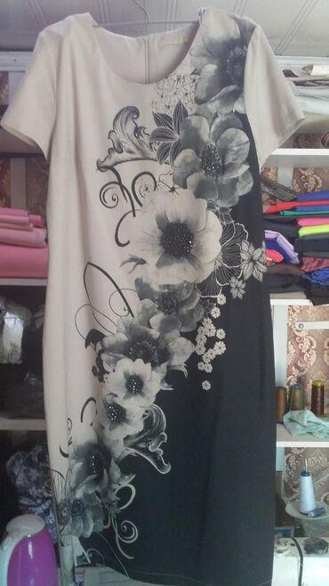 Женская одежда - Джал: Платье. Б/ У Турция. Размер 46. За 500 сом