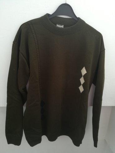 Muški Duksevi | Vranje: Džemper sa romboidima vel 42,kao nov, nije nošen, obim grudi 108 cm