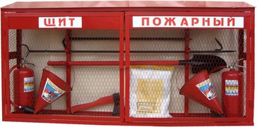 Щит пожарный закрытого типа-2 оп-4-2 конусных ведра-лом