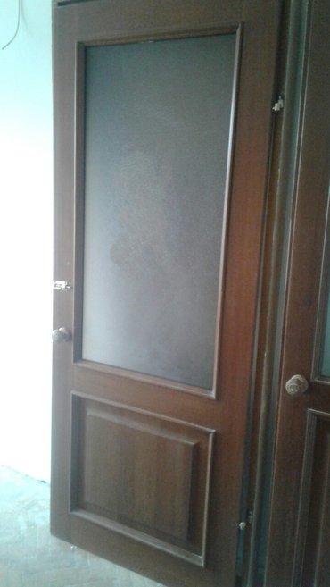 Двери б/у межкомнатные с коробом. 2. 20 и 2. 00. одна с наличником в Бишкек