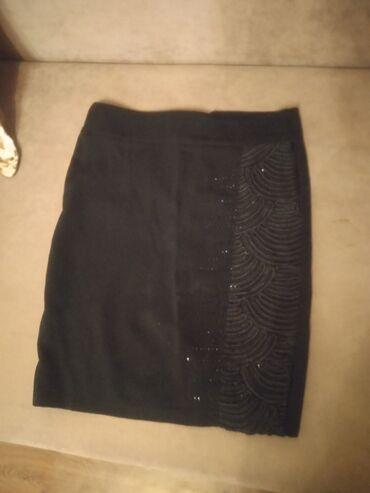 Юбка черная для школы со стразами 150 сом