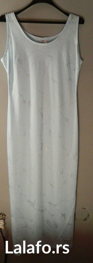 Duga svetlo plava letnja haljina - Sabac