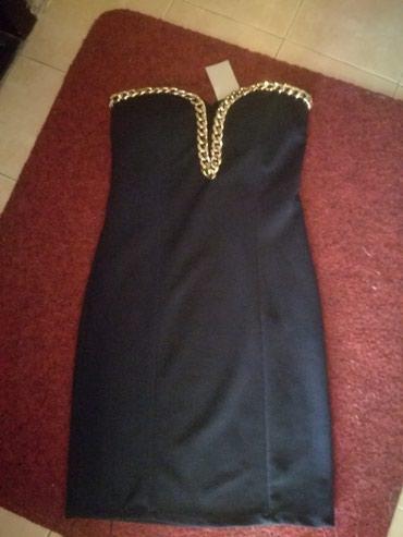 Top haljina tamno teget,kao crna ,nova sa etiketom veličina xs - Beograd