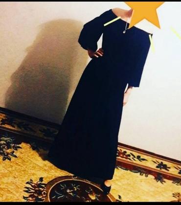 платье бархатное в Кыргызстан: Бархатное черное платье за 300сомовновое причина продажи размер не