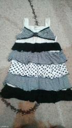Preslatka haljinica sa karnerima. Vel. 128 duzina od brtela do kraja - Pancevo