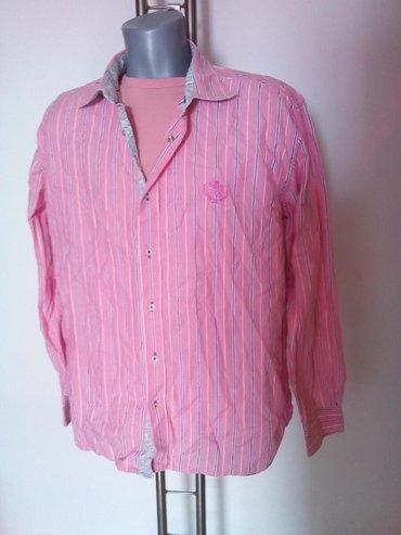 Muška odeća | Svilajnac: Muska roze kosulja sa prugama. Velicina XL. NOVO