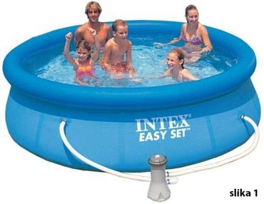 Pumpa-za-bazen - Srbija: Bazeni na naduvavanje više modela AKCIJABazen Intex 244x76 cm Easy Set