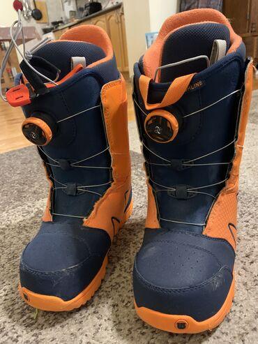 Спорт и хобби - Кыргызстан: Burton Highline Boa snowboard boots. Size 40. Like new. 13,000Ботинки
