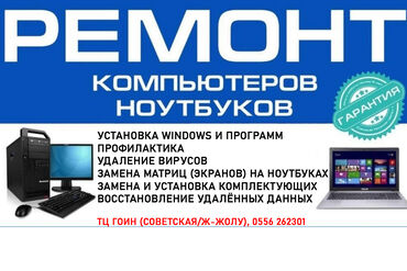 - Установка Windows и программ- Профилактика- Удаление вирусов- Замена