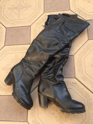 36 р . Женские сапоги на среднем каблуке.Натуральная кожа . Зимняя