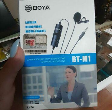 Boya M1 orginal yaxa mikrofonTelefonVideokameraKameraKompyuterKabel