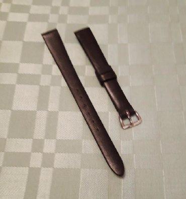 Elegantan kožni kaiš (12mm) za ženski sat, crne boje