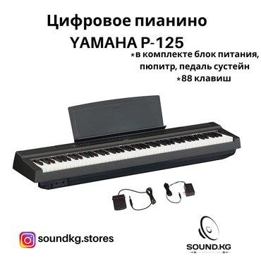 цифровое-пианино в Кыргызстан: Компактное цифровое пианино YAMAHA P-125 - В наличии!Тип: Компактное