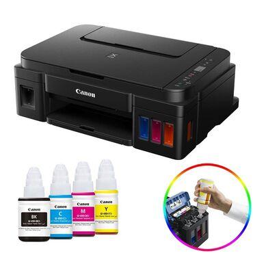 оригинальные расходные материалы oki pla пластик в Кыргызстан: МФУ принтер сканер копир а4 формата 4 цвета на заводской донорке.Canon