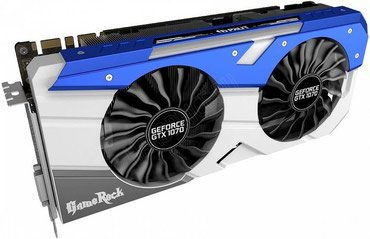 Palit GeForce GTX1070 Gamerock 8Gb DDR5 256bit ,Engine clock 1708MHz, в Бишкек