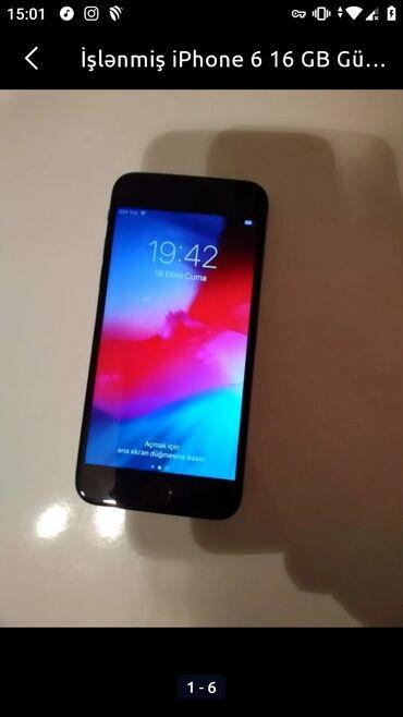 iphone qablari - Azərbaycan: Təmir edilmiş iPhone 6 16 GB Gümüşü