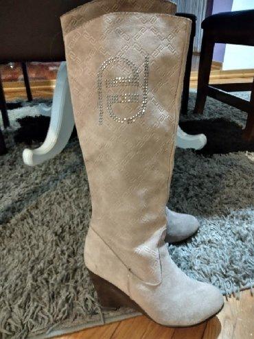 Ženska obuća | Bela Crkva: Cizme prava koza br.37