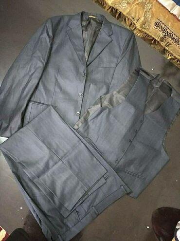 Личные вещи - Орловка: Мужской костюм на 54 размер новый, цвет синий. Пиджак брюки и жилетка