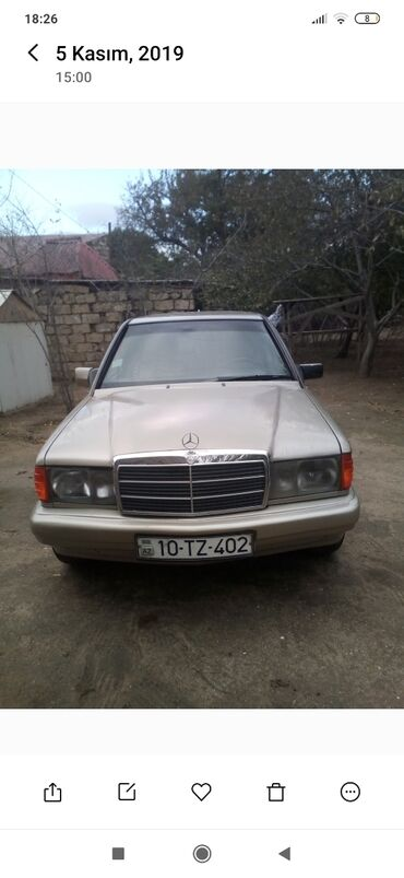 brilliance m2 1 8 at - Azərbaycan: Mercedes-Benz 190-Series 1.1 l. 1991 | 400 km