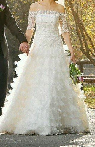 Дам в аренду свадебное платье,  сшитое в Бишкек - фото 2