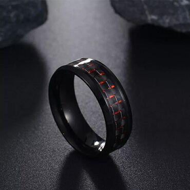 Кольцо из углеродного волокна✔Кольцо из нержавеющей стали ️Цвет: Цена