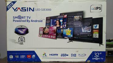 телевизор самсунг 54 см в Кыргызстан: Продаю тв YASIN 32дюйм. 82 см. смарт андроид. Full HD. IPS матр. сост