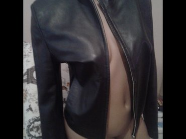 Crna kozna jakna m vel luciano,prirodna mekana teleca koza. Bez - Borca