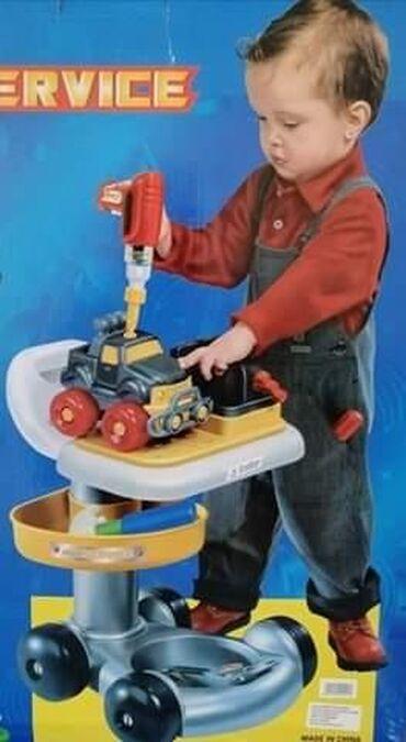 3200dinVeliki električni set alata / kolica / auto igračka za